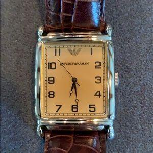 Emporio Armani Leather Watch
